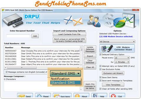 Bulk SMS Sending Program